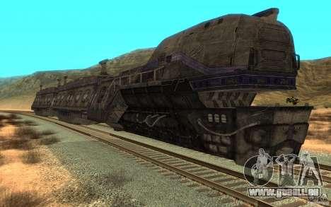 Un train reliant le jeu Aliens vs Predator v1 pour GTA San Andreas