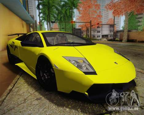 Lamborghini Murcielago LP 670/4 SV Fixed Version pour GTA San Andreas vue de droite