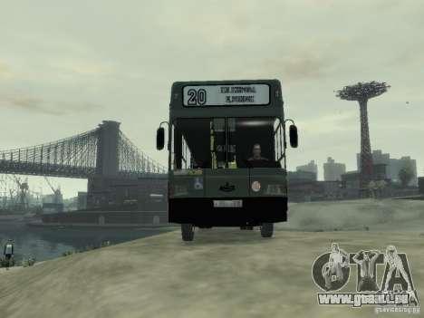 MAZ 103 Bus pour GTA 4 Vue arrière