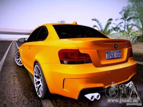 BMW 1M E82 Coupe pour GTA San Andreas vue de droite