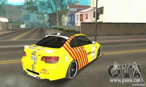 BMW M3 2008 Hamann v1.2 pour GTA San Andreas moteur