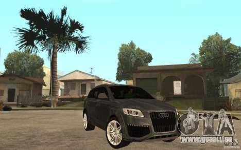 Audi Q7 TDI 2009 pour GTA San Andreas vue arrière
