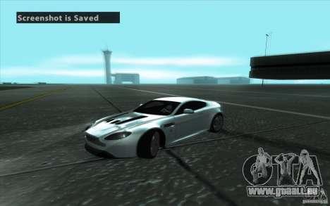 Aston Martin V12 Vantage für GTA San Andreas Seitenansicht