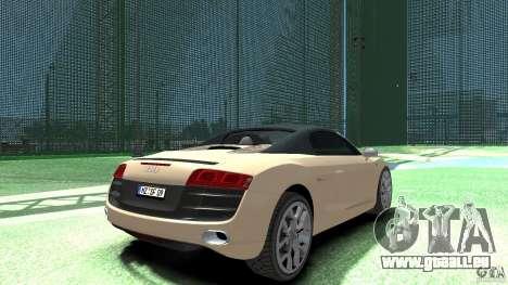 Audi R8 Spyder v10 [EPM] pour GTA 4 Vue arrière de la gauche