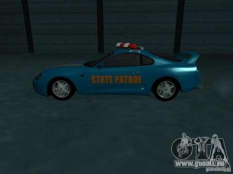 Toyota Supra California State Patrol für GTA San Andreas obere Ansicht