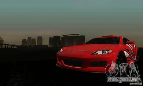 Mazda RX-8 Tuneable pour GTA San Andreas vue intérieure