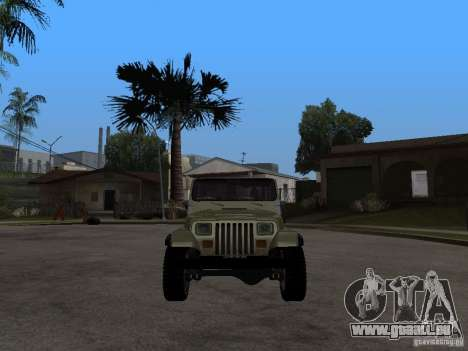 Jeep Wrangler 1986 4.0 Fury v.3.0 pour GTA San Andreas vue de droite