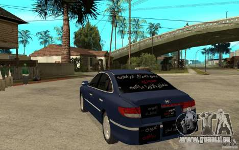 Hyundai Azera 2009 arb drift für GTA San Andreas zurück linke Ansicht