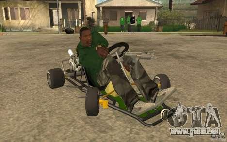 Hayabusa Kart für GTA San Andreas Rückansicht