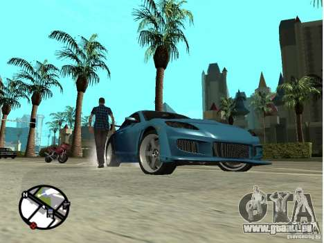 Mazda RX8 für GTA San Andreas obere Ansicht