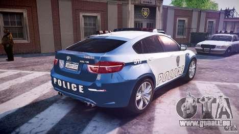 BMW X6M Police pour GTA 4 vue de dessus