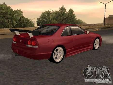 Nissan Skyline GT-R BCNR 33 pour GTA San Andreas laissé vue