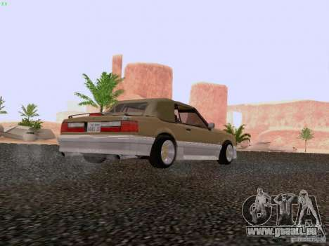 Ford Mustang GT 5.0 Convertible 1987 pour GTA San Andreas vue de droite