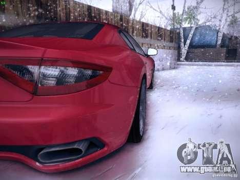 Maserati Gran Turismo S 2011 V2 pour GTA San Andreas vue de droite