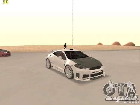 Mitsubishi Eclipse GT NFS-MW pour GTA San Andreas vue de dessus