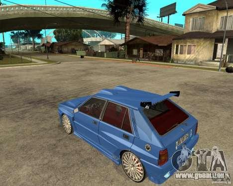 Lancia Delta Sparco pour GTA San Andreas laissé vue