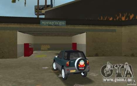 Toyota RAV4 pour GTA Vice City sur la vue arrière gauche