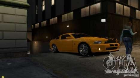 Ford Shelby Mustang GT500 2011 v2.0 pour le moteur de GTA 4