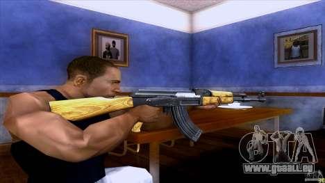 AK-47 pour GTA San Andreas troisième écran