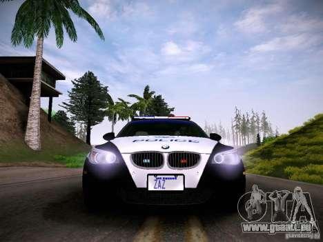 BMW M5 E60 Police für GTA San Andreas rechten Ansicht