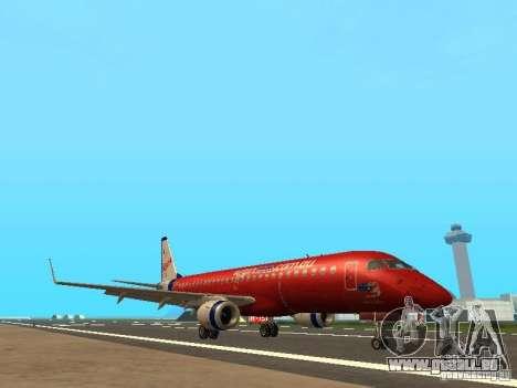 Embraer ERJ 190 Virgin Blue pour GTA San Andreas laissé vue