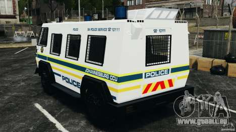 RG-12 Nyala - South African Police Service für GTA 4 hinten links Ansicht
