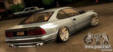 BMW 850 CSI für GTA San Andreas zurück linke Ansicht