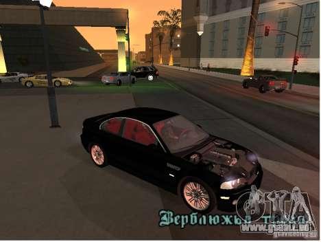 BMW M3 GT-R Stock pour GTA San Andreas laissé vue