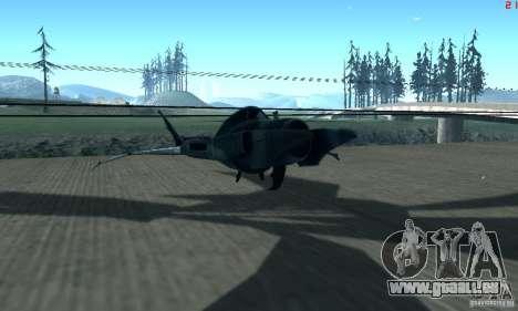 BatWing pour GTA San Andreas laissé vue