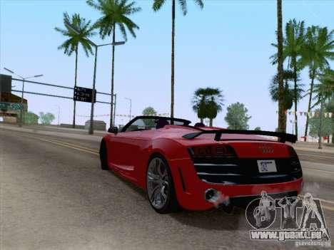 Audi R8 GT Spyder für GTA San Andreas linke Ansicht