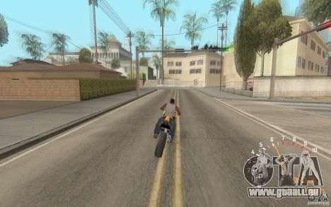 Digital speedometer and tachometer für GTA San Andreas her Screenshot
