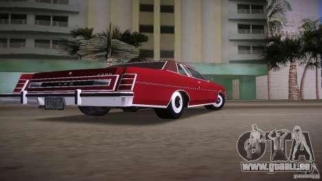 Ford LTD Brougham Coupe pour une vue GTA Vice City de la gauche