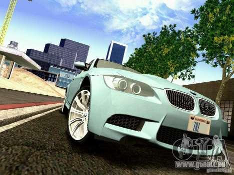 BMW M3 MotoGP SafetyCar pour GTA San Andreas vue intérieure