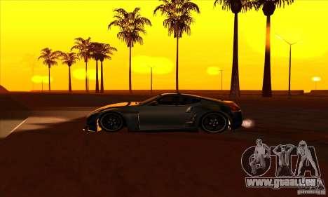 Nissan 370z Drift Edition für GTA San Andreas linke Ansicht