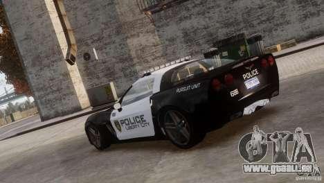 Chevrolet Corvette LCPD Pursuit Unit pour GTA 4 est une gauche