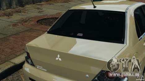 Mitsubishi Lancer Evolution VIII v1.0 pour GTA 4 vue de dessus