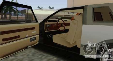 Virgo Continental pour GTA San Andreas vue de dessous