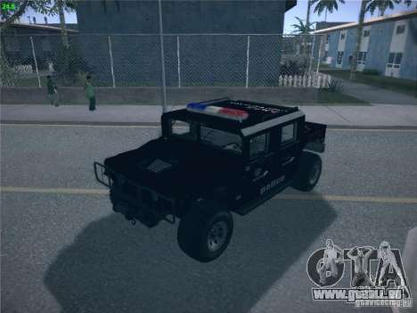 Hummer H1 1986 Police pour GTA San Andreas