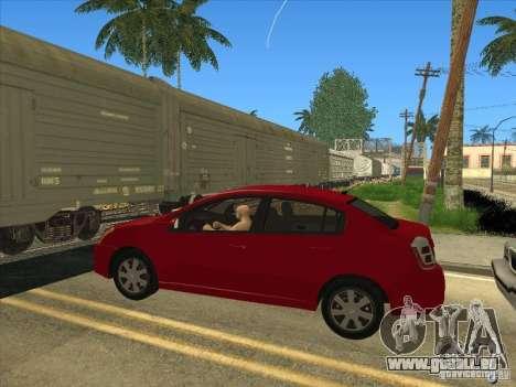 Nissan Sentra 2012 pour GTA San Andreas sur la vue arrière gauche