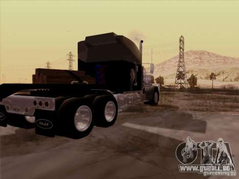 Peterbilt 378 Custom für GTA San Andreas zurück linke Ansicht