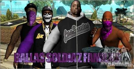 Pack Ballas Soldiaz Families V.2 für GTA San Andreas