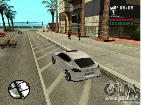 Porshe Panamera für GTA San Andreas zurück linke Ansicht