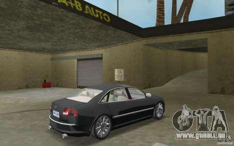 Audi A8 pour GTA Vice City vue arrière