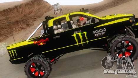 Dodge Ram 4x4 pour GTA San Andreas vue intérieure