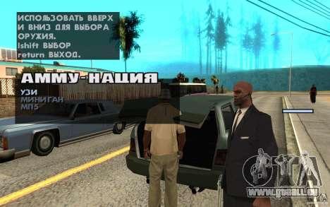 Protection pour Cj pour GTA San Andreas quatrième écran