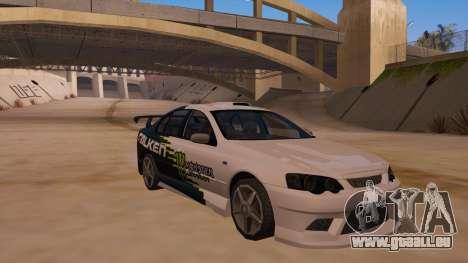 Ford Falcon XR8 2008 Tunable V1.0 pour GTA San Andreas vue intérieure