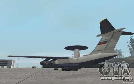 Berijew A-50 Mainstay pour GTA San Andreas sur la vue arrière gauche