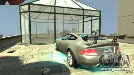 Aston Martin Vanquish S v2. 0 ohne Muskelaufbau für GTA 4 hinten links Ansicht