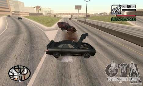 La perte de vies lors de l'écrasement pour GTA San Andreas