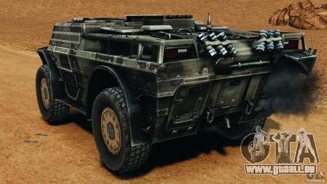 Armored Security Vehicle für GTA 4 hinten links Ansicht